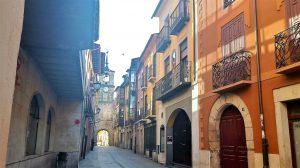 Calle del reloj en Ponferrada.