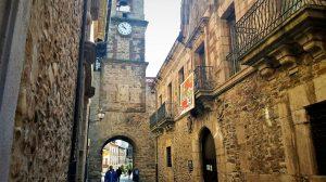Calle del Reloj en Ponferrada